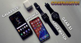 iPhone X con Apple Watch o Galaxy S9+ con Gear S3?
