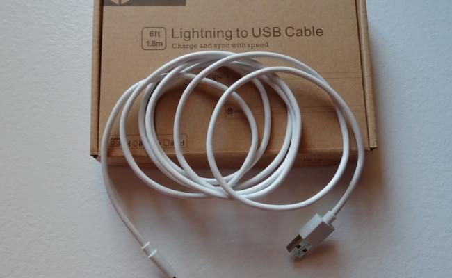 Recensione cavo Lightning certificato da 1,8 metri per iPhone, iPad e iPod Touch.