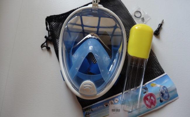 """Recensione maschera snorkeling """"Full Face"""" con attacco per action camera."""