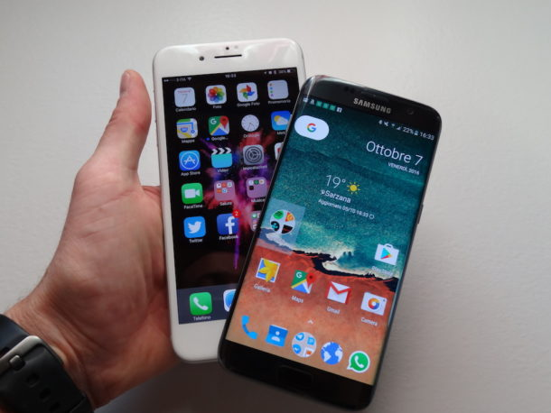 Differenze tra iphone 6 e samsung s7