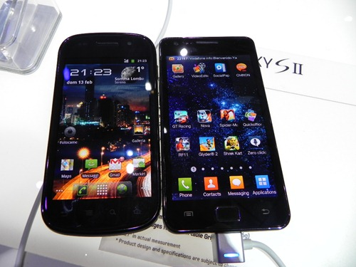 Confronto display Samsung Galaxy S II, Google Nexus S