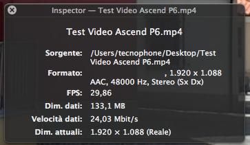Dati Video P6