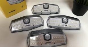 Recensione lampada solare MPOW con 30 LED e sensore di movimento (Set da 4 luci)