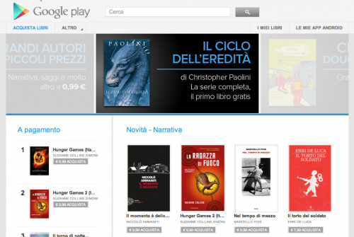 Libri su Google Play [screen-shot]