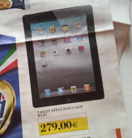 Offerta sottocosto Ipercoop Sarzana e La Spezia : Apple iPad 2 16Gb ...