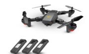 VISUO XS809HW : Drone pieghevole con RC, fotocamera e 3 batterie a 40 euro!