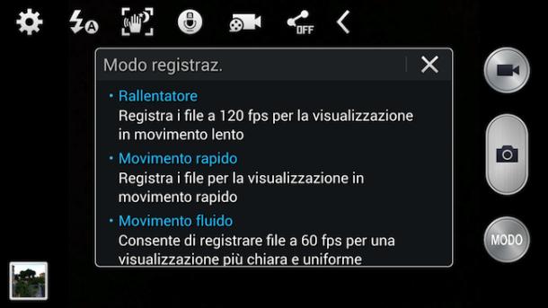Interfaccia Video Note 3