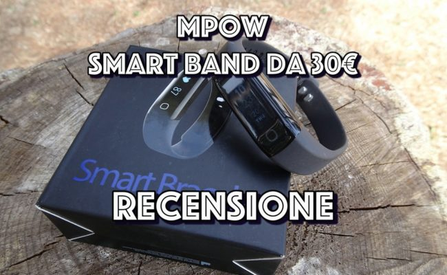 Recensione Smart Band MPOW, con cardiofrequenzimetro, contapassi e IP68. (32€)