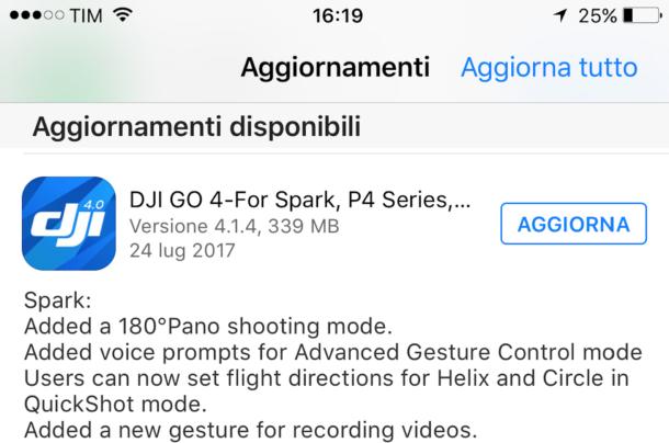 accenti romano aggiornare app android