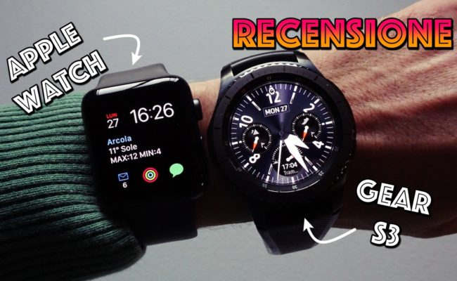 Apple Watch Serie 3 : recensione e confronto con Gear S3