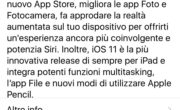 iOS 11 disponibile al download per iPhone, iPad e iPod Touch.
