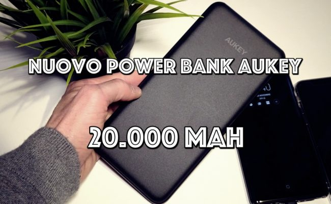 Nuovo Powerbank Aukey da 20.000 mAh. Più sottile e più potente! (Recensione)