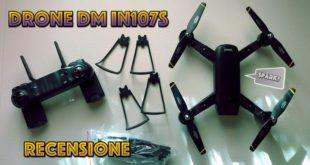 Recensione drone pieghevole con radiocomando Wifi, 2 fotocamere e FPV! (40€)